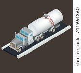 vector isometric white tanker... | Shutterstock .eps vector #741964360