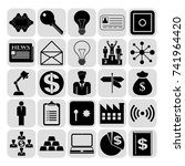 set of 25 business symbols of... | Shutterstock .eps vector #741964420