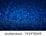 blue glitter background. | Shutterstock . vector #741978349