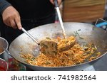 asian thai food padthai   Shutterstock . vector #741982564