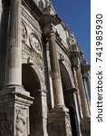 Small photo of Details of the Triumphal Arch of Constantine, dedicated in AD 315 to celebrate Constantine
