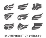 set of different vector wings...