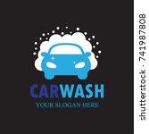 car wash logo template design... | Shutterstock .eps vector #741987808