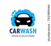 car wash logo template design... | Shutterstock .eps vector #741989464
