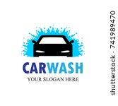 auto washing logo vector....   Shutterstock .eps vector #741989470