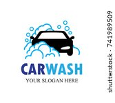auto washing logo vector....   Shutterstock .eps vector #741989509