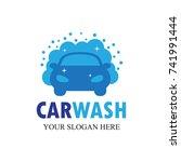 car wash logo template design... | Shutterstock .eps vector #741991444