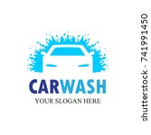 auto washing logo vector.... | Shutterstock .eps vector #741991450