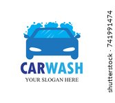car wash logo   clean car vector | Shutterstock .eps vector #741991474