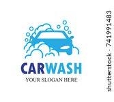 auto washing logo vector.... | Shutterstock .eps vector #741991483