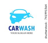 auto wash logo template. vector ... | Shutterstock .eps vector #741991564