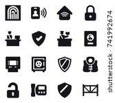 16 vector icon set  ...   Shutterstock .eps vector #741992674