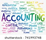 accounting word cloud ... | Shutterstock .eps vector #741993748