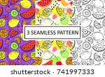 vector seamless pattern of... | Shutterstock .eps vector #741997333