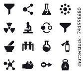 16 vector icon set   funnel ... | Shutterstock .eps vector #741998680