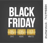 abstract vector black friday... | Shutterstock .eps vector #741998884