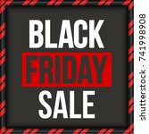 abstract vector black friday... | Shutterstock .eps vector #741998908