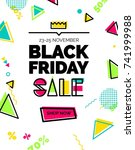 black friday sale banner. sale... | Shutterstock .eps vector #741999988