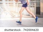 sport background  close up of... | Shutterstock . vector #742004620