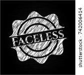 faceless written on a chalkboard | Shutterstock .eps vector #742006414