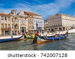 aveiro  portugal   july 25 ... | Shutterstock . vector #742007128