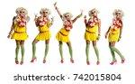 ganguro   alternative fashion... | Shutterstock . vector #742015804