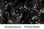 particles abstract background | Shutterstock . vector #742023040