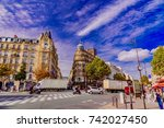 paris  france   october 05 ... | Shutterstock . vector #742027450
