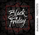 abstract vector black friday...   Shutterstock .eps vector #742027573