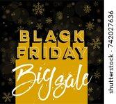 abstract vector black friday... | Shutterstock .eps vector #742027636