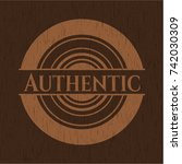authentic realistic wooden... | Shutterstock .eps vector #742030309