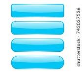 blank blue menu buttons. 3d... | Shutterstock . vector #742037536