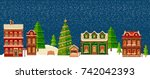winter landscape.christmas... | Shutterstock .eps vector #742042393