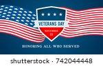 veterans day vector...   Shutterstock .eps vector #742044448