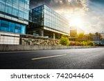 large modern office building | Shutterstock . vector #742044604
