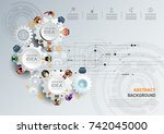 business meeting and... | Shutterstock .eps vector #742045000