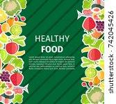 healthy food yummy berries ... | Shutterstock .eps vector #742045426