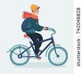 vector cartoon illustration of... | Shutterstock .eps vector #742048828
