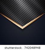 abstract material design modern ... | Shutterstock .eps vector #742048948