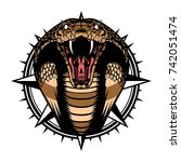 snake cobra wild animal head... | Shutterstock .eps vector #742051474