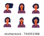 cartoon illustration of a young ... | Shutterstock .eps vector #742051588