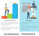 increase in profits and... | Shutterstock .eps vector #742052014
