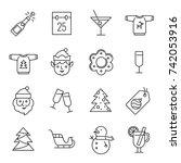 christmas icons   santa claus ...