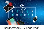realistic smart phones  laptop... | Shutterstock .eps vector #742053934