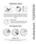 statistics data and pie diagram ... | Shutterstock .eps vector #742055044