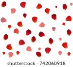 background of naturalistic rose ... | Shutterstock .eps vector #742060918
