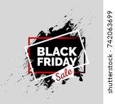 black friday discount banners ... | Shutterstock .eps vector #742063699