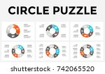 vector circle arrows puzzle... | Shutterstock .eps vector #742065520