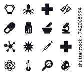 16 vector icon set   hex...   Shutterstock .eps vector #742065994