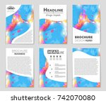 abstract vector layout... | Shutterstock .eps vector #742070080